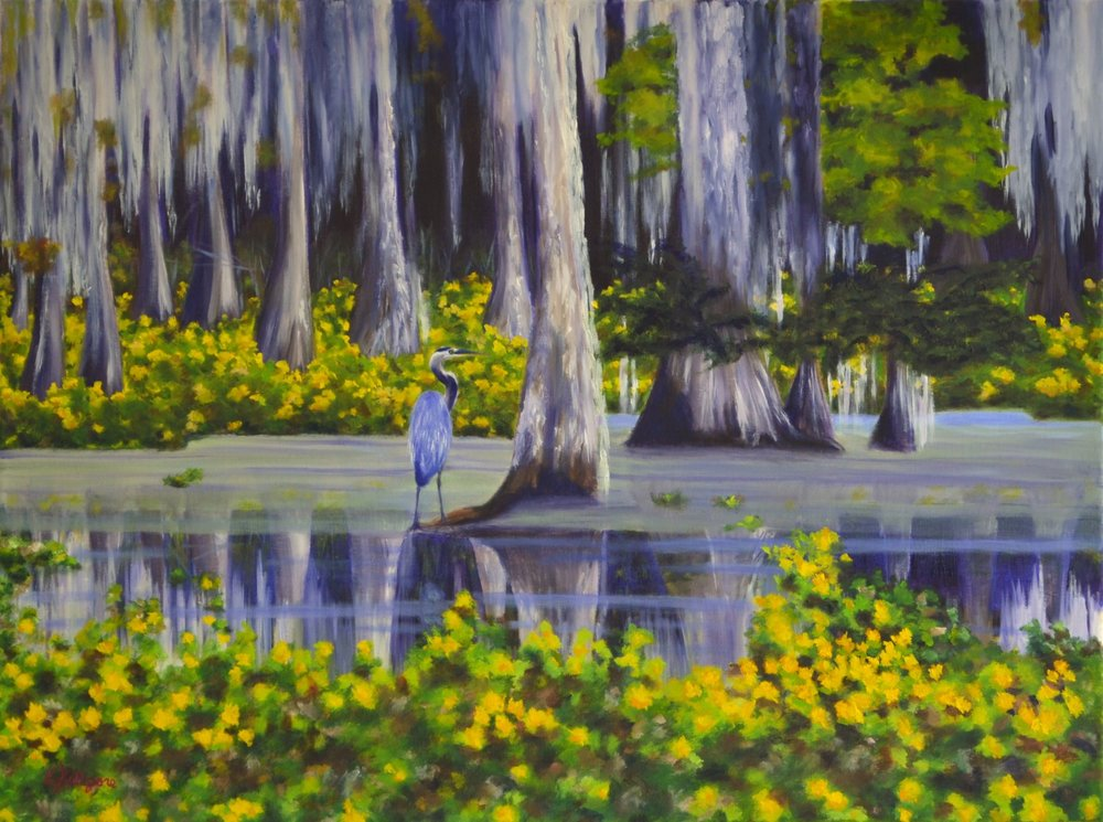 """Blooming Bayou    18"""" x 24"""""""