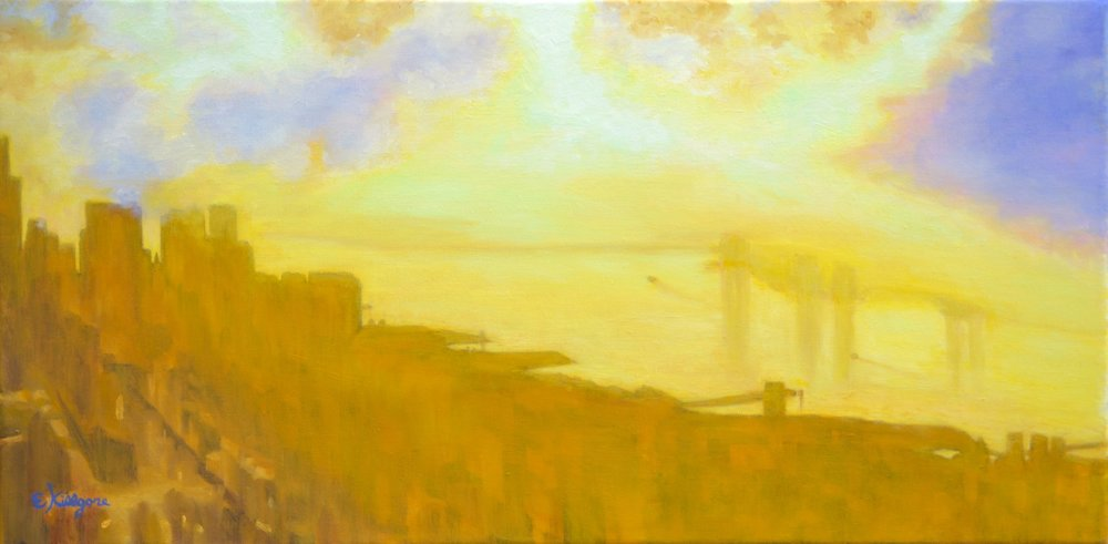 """The Mighty Hudson  12"""" x 24"""""""