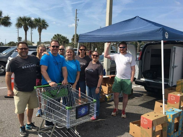 Beach Church in Jacksonville Beach donated 8,793 pounds of food.