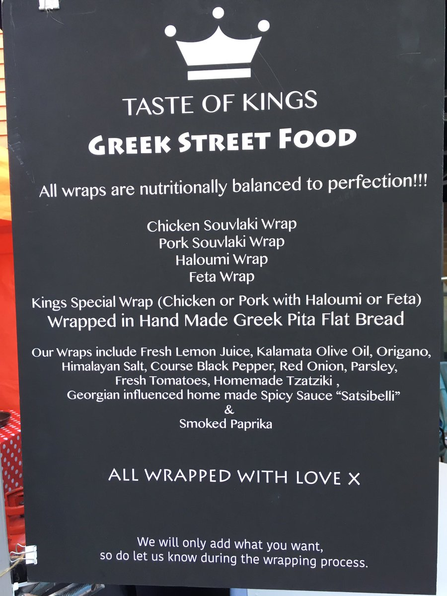 TASTE OF KINGS North London based streetfood queens Taste of Kings serve up delicious Souvlaki wraps https://www.facebook.com/tasteofkings/
