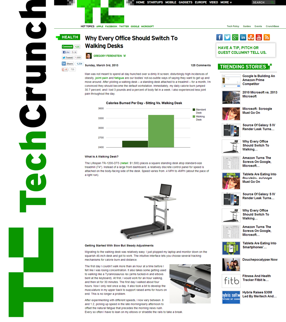 TechCrunch_LifeSpan Treadmill Desk