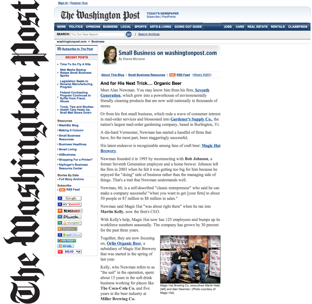 Washington Post_Magic Hat + Orlio