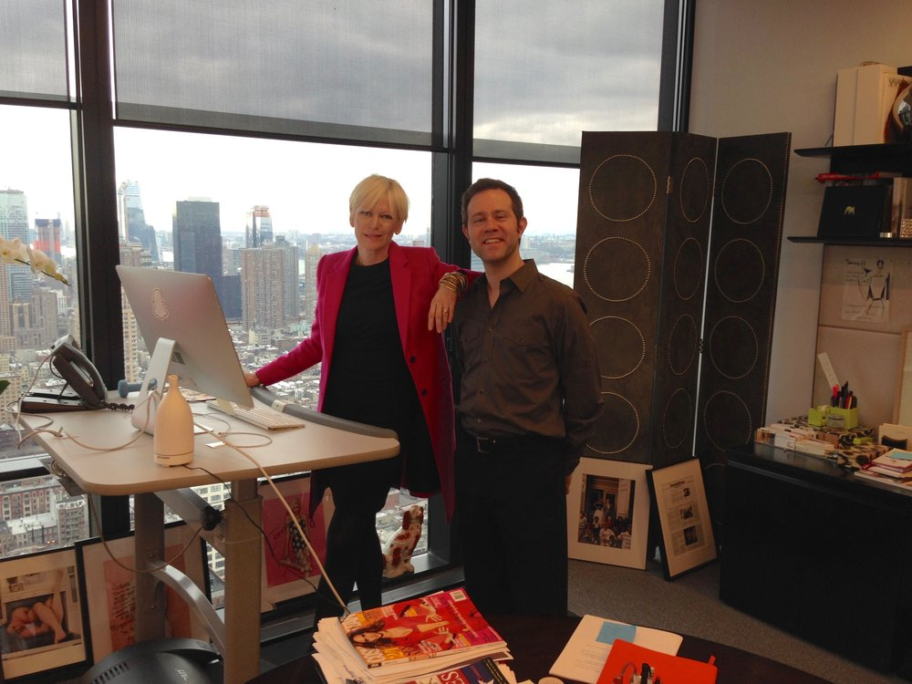 Filming an episode of Cosmo Life at Hearst Tower with Cosmopolitan Editor In Chief Joanna Coles