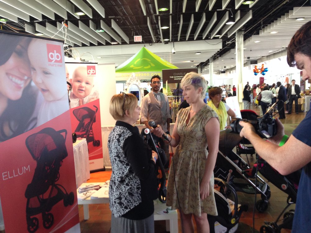 Managing an interview at the New York Baby Show