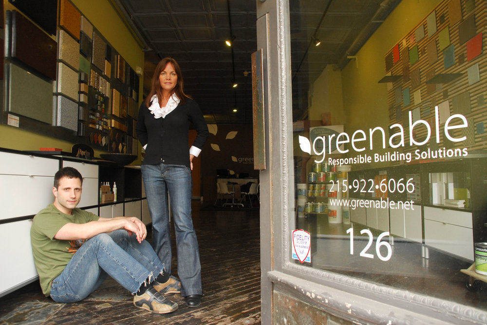 Greenable Executive Director/Founder Angelo Anastasio and Director of Design Lynne Templeton, photo by Anna Flint