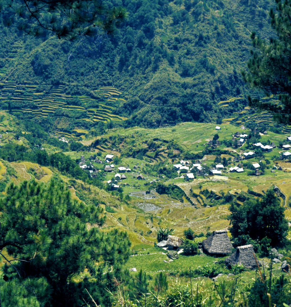 Tanulong village at south end of Fedilisan-Tanulong valley. 1974
