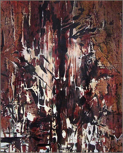 Tree Totems #4 - Acrylic on Canvas - 24'' x 30''