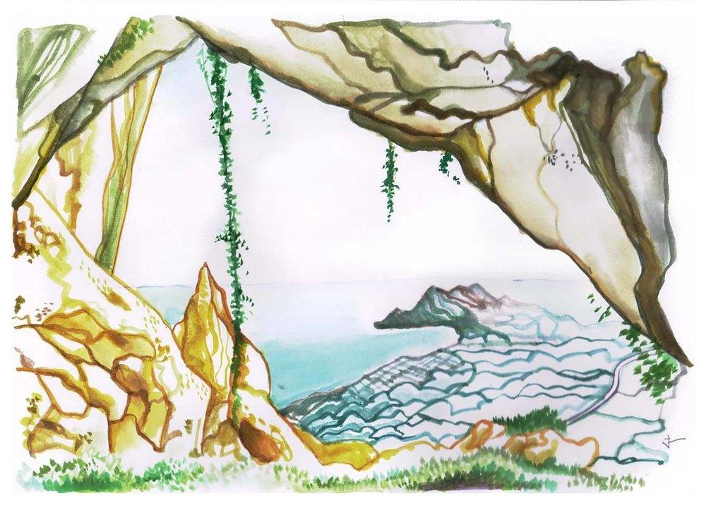 Sierra Helada - 8'' x 10'' - Watercolor on paper