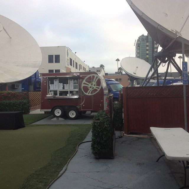 Being featured on ktla channel 5 news labor day broadcast celebrating their jib operators 60th birthday #happybirthday #laborday #coffee #coffeetruck #ktla