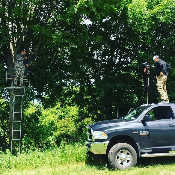 When you forget the ladder and you use the leveling kit and roof of the Dodge! What product do you think we were filming here? Winner gets some free gear! #ShitllBuffOut