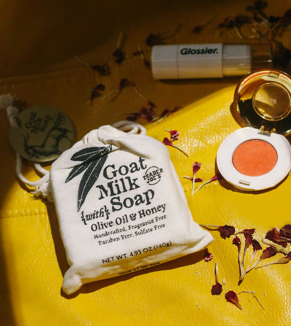 Trader Joes    - Goat Milk Soap With Olive Oil & Honey