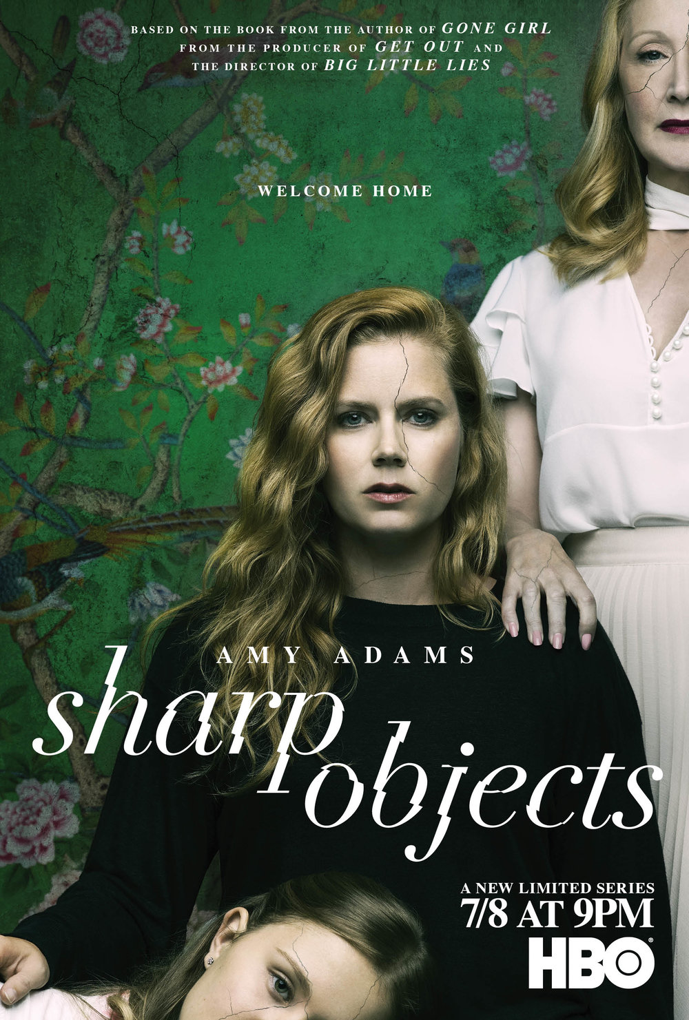 TV series poster for  Sharp Objects,  starring Amy Adams and directed by Jean-Marc Vallée