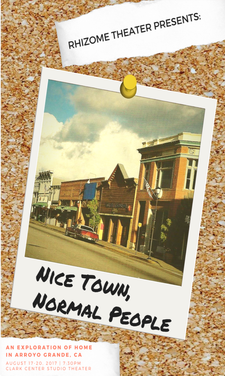 """Program cover from the """"Nice Town, Normal People"""" production, 2017."""