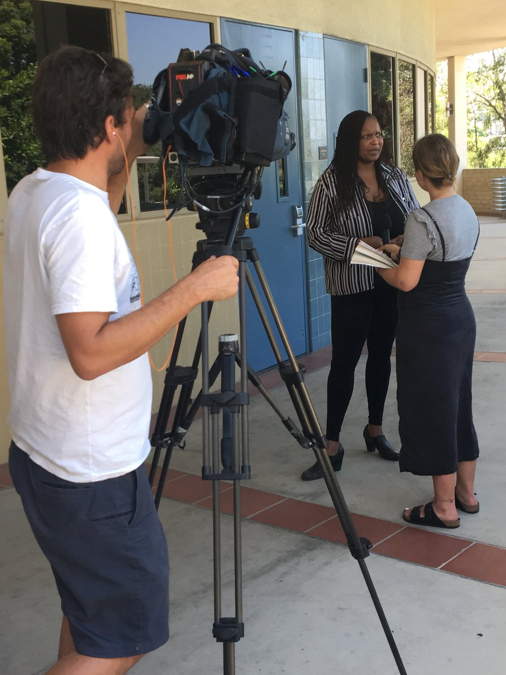 Young Actors Camp 's interview with Good Morning Britain on the campus of Claremont McKenna College.
