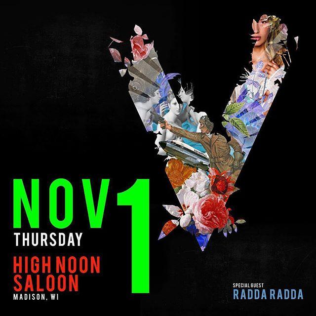 This Thursday! . . . . . @saintsofvalory #raddaradda party #highnoonsaloon #madisonwisconsin #newmusic #rockandroll #popmusic #escapadestour #raddaraddaraddaradda