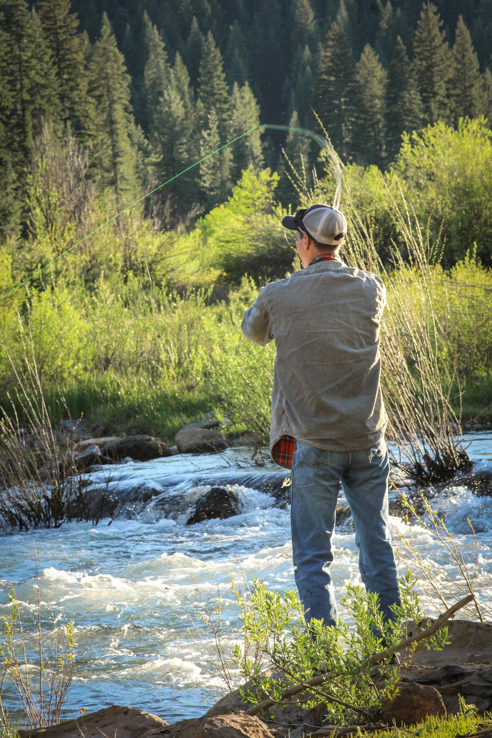 Fishing in the Inter-Mountain Area-  Photo courtesy of Katie Eason Photography