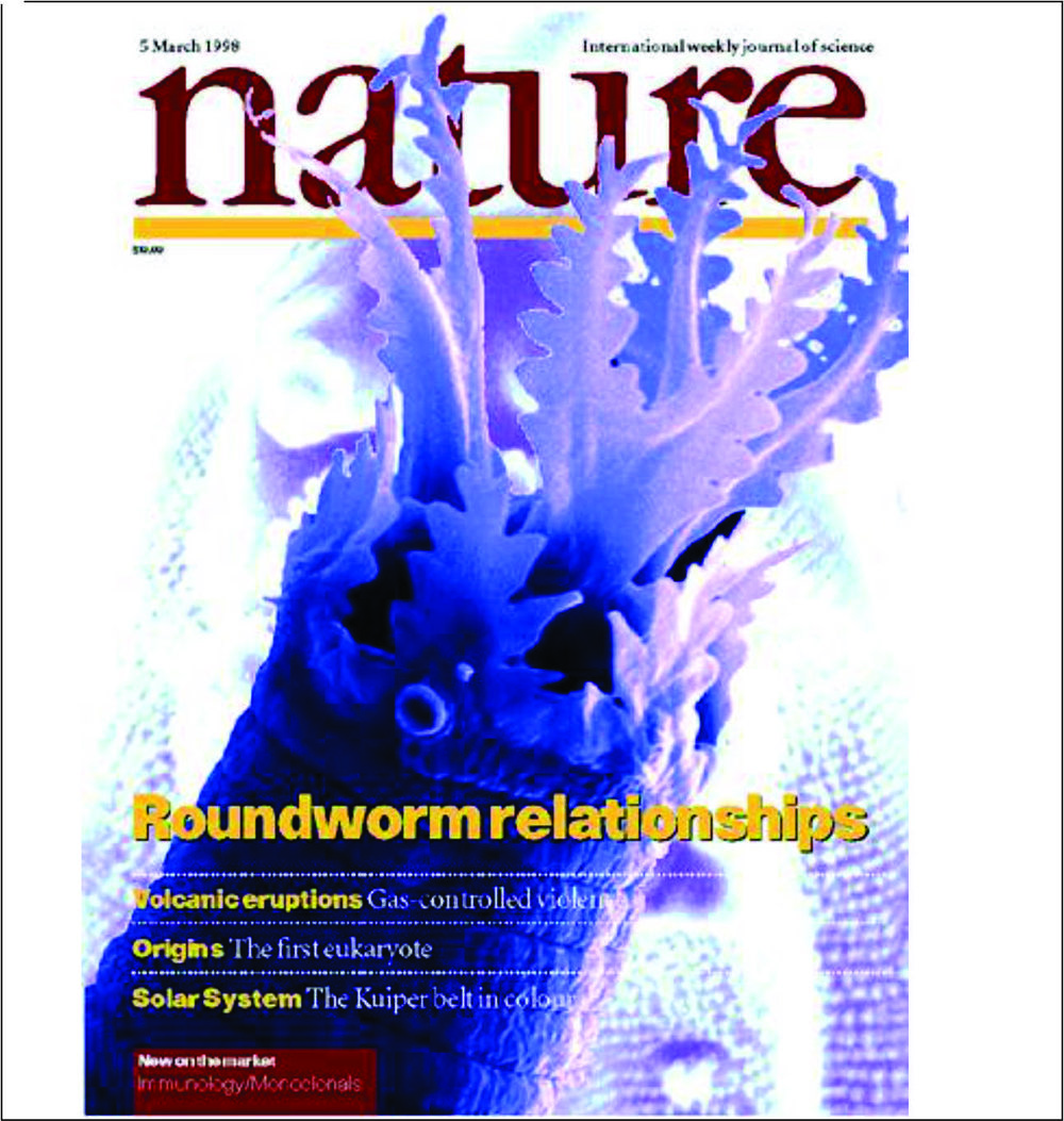 Nature cover for nematode phylogeny