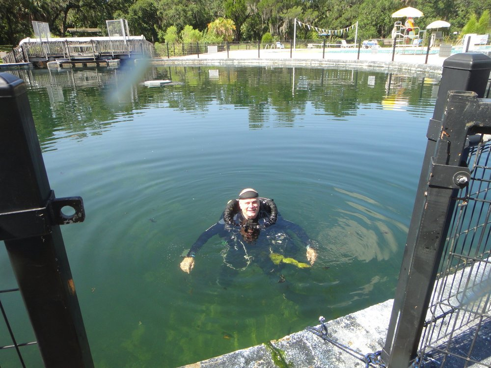 Dr. Garey in Sulphur Spring Pool
