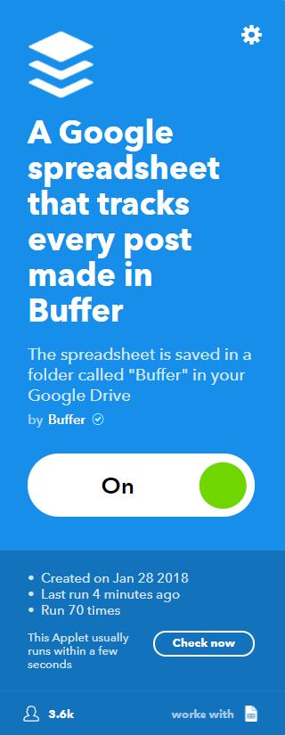Applet Buffer en Google Spreadsheet