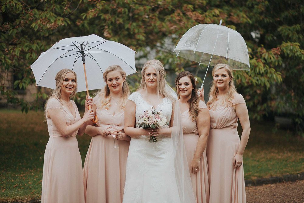 bridesmaids at East Riddlesden Hall