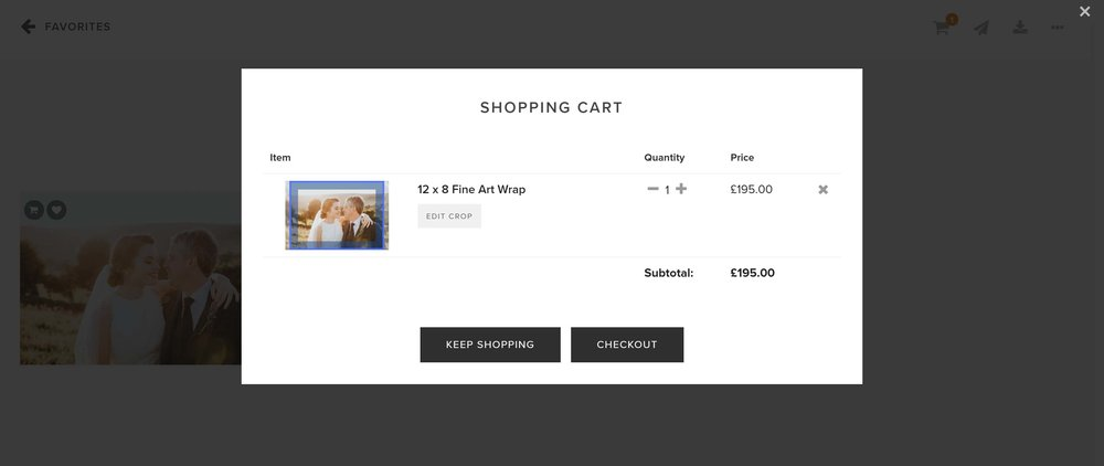 Select 'view cart' and then 'checkout' to place your order