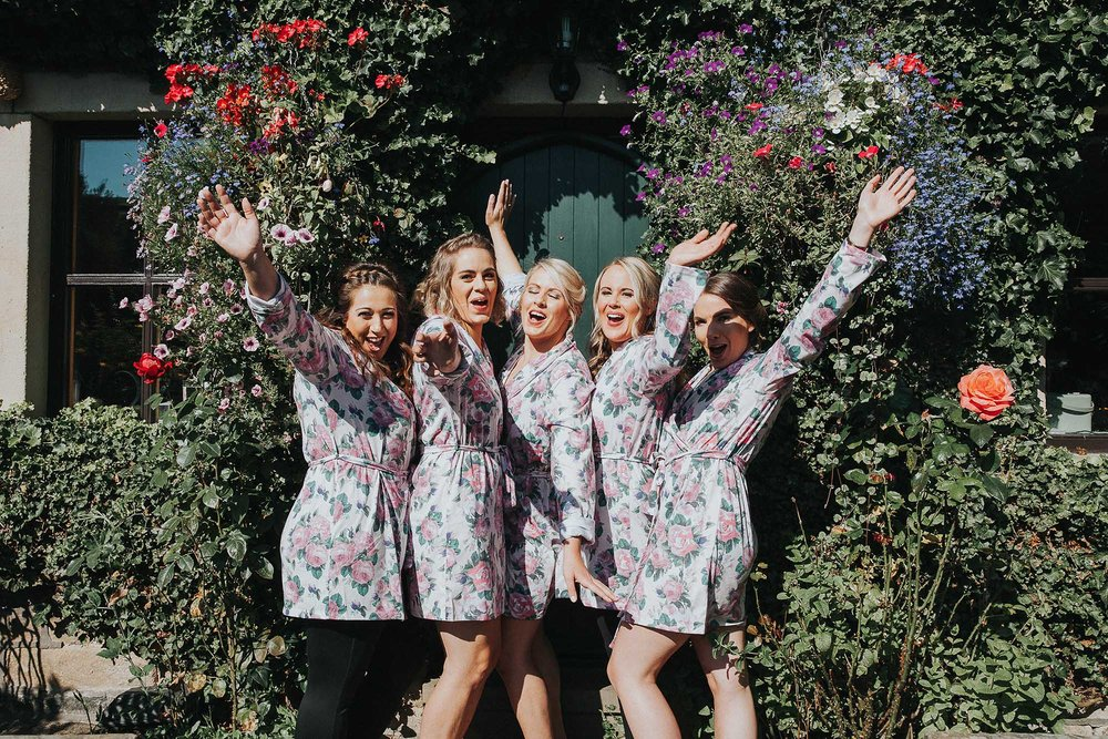 Excited bridesmaids Ripponden