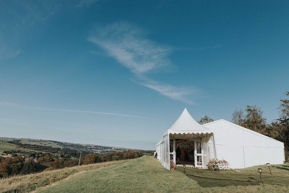 Marquee wedding in Ripponden