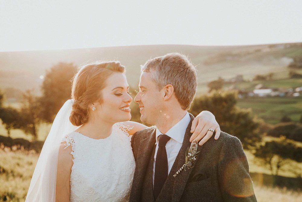 Natural wedding portraits Yorkshire