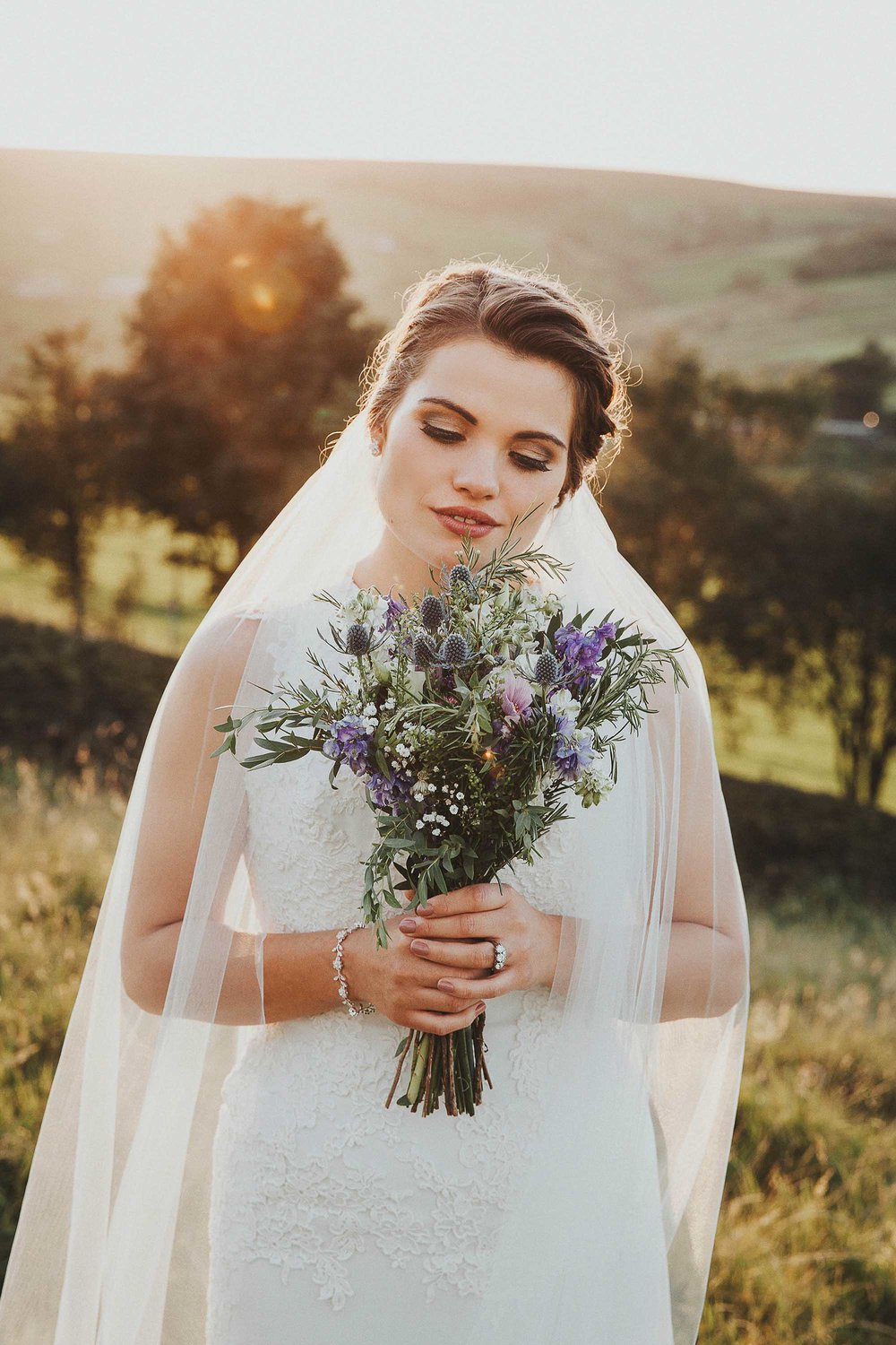Natural bridal portrait West Yorkshire
