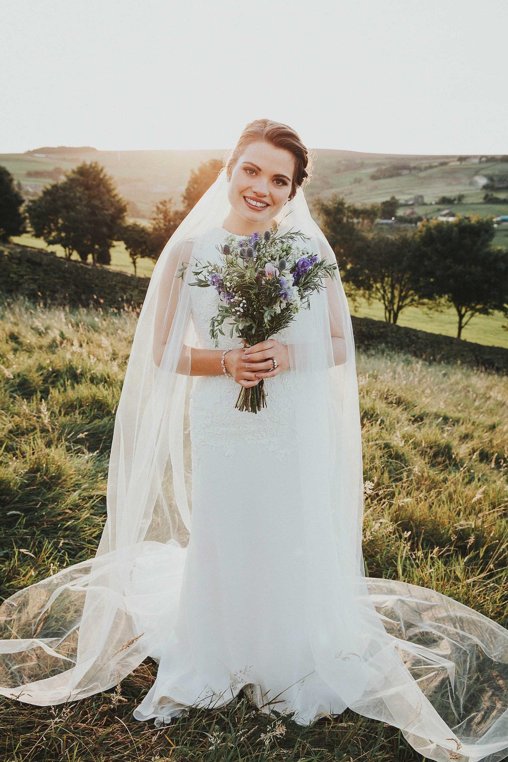 Portrait of bride in West Yorkshire