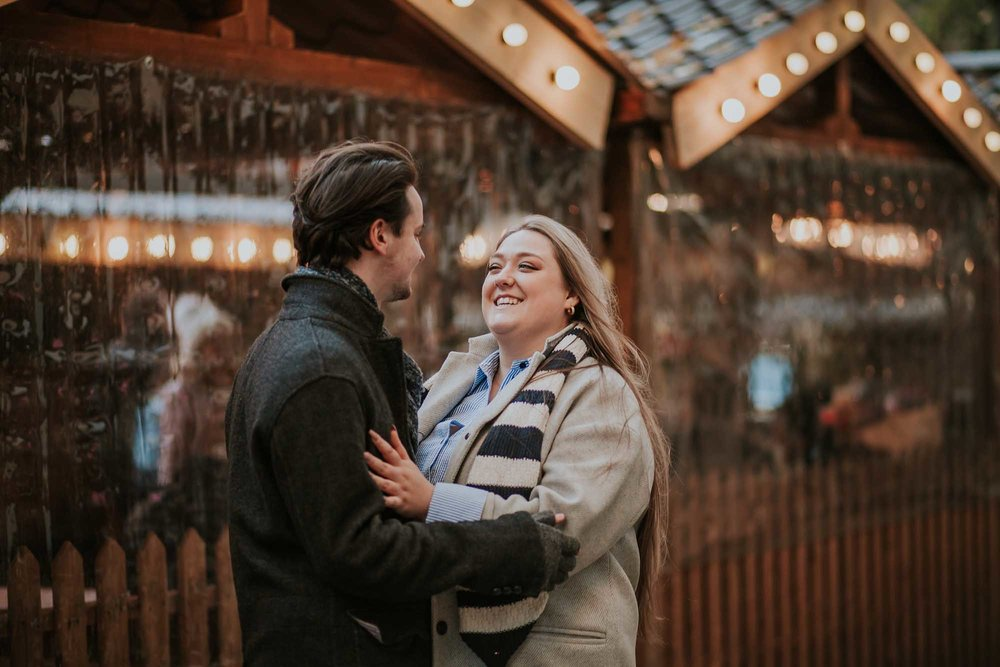 engagement photography Manchester Christmas markets