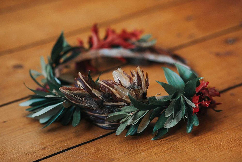 autumn bridal headband