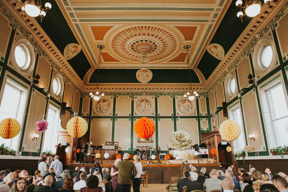 ballroom at Todmorden town hall