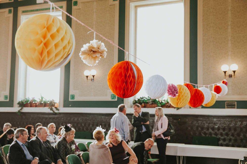 Todmorden Town Hall ballroom