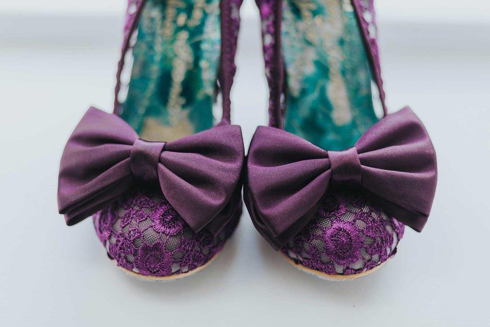 purple irregular choice wedding shoes
