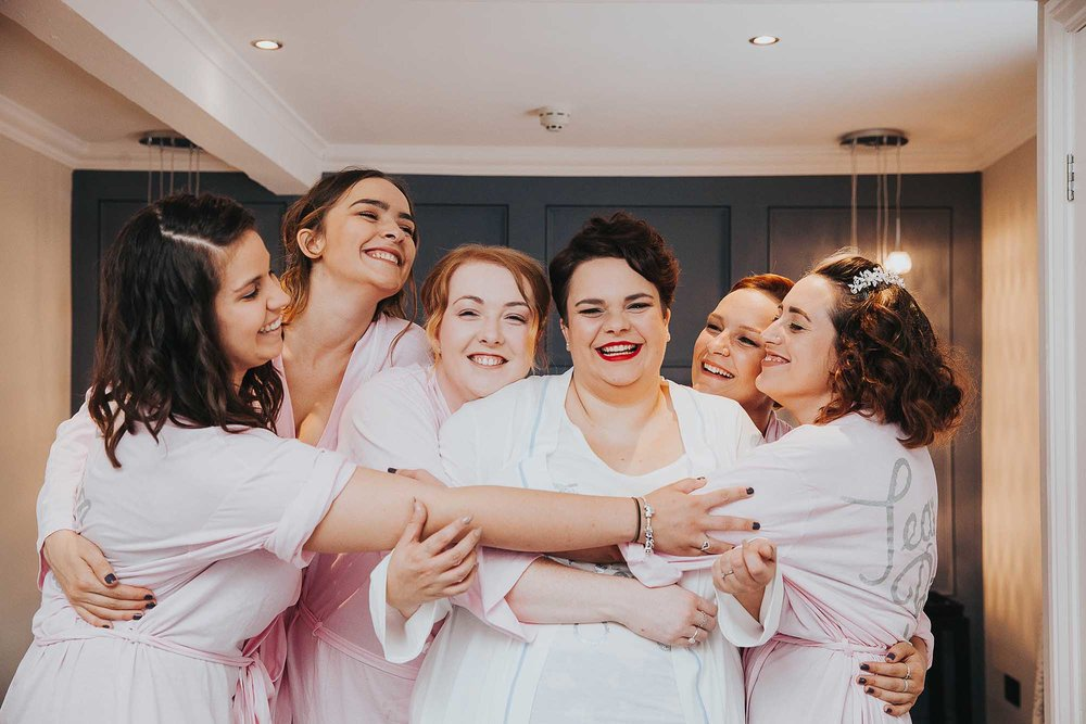 bridal party at The Bridge Hotel & Spa Wetherby