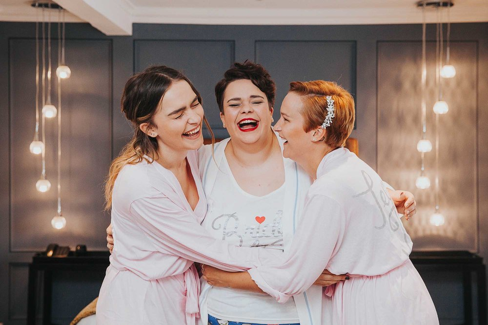 The Bridge Hotel & Spa Wetherby bridesmaids laughing