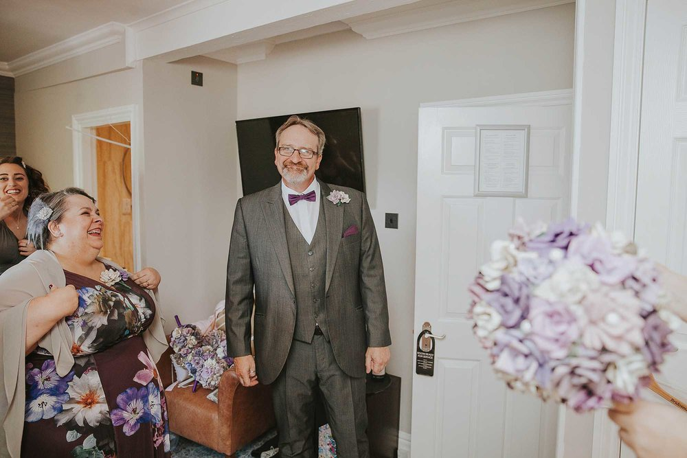 father of the bride at Harrogate wedding in Wetherby