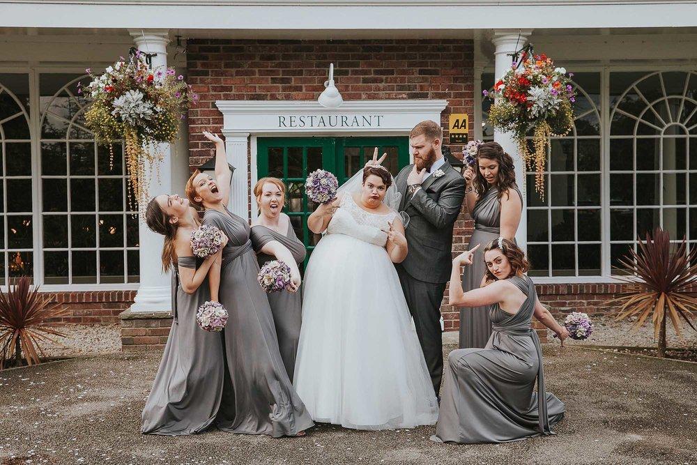 fun wedding party photo Yorkshire