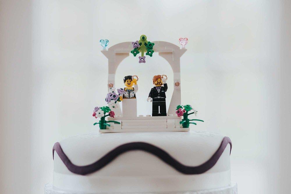 lego minifigure cake topper