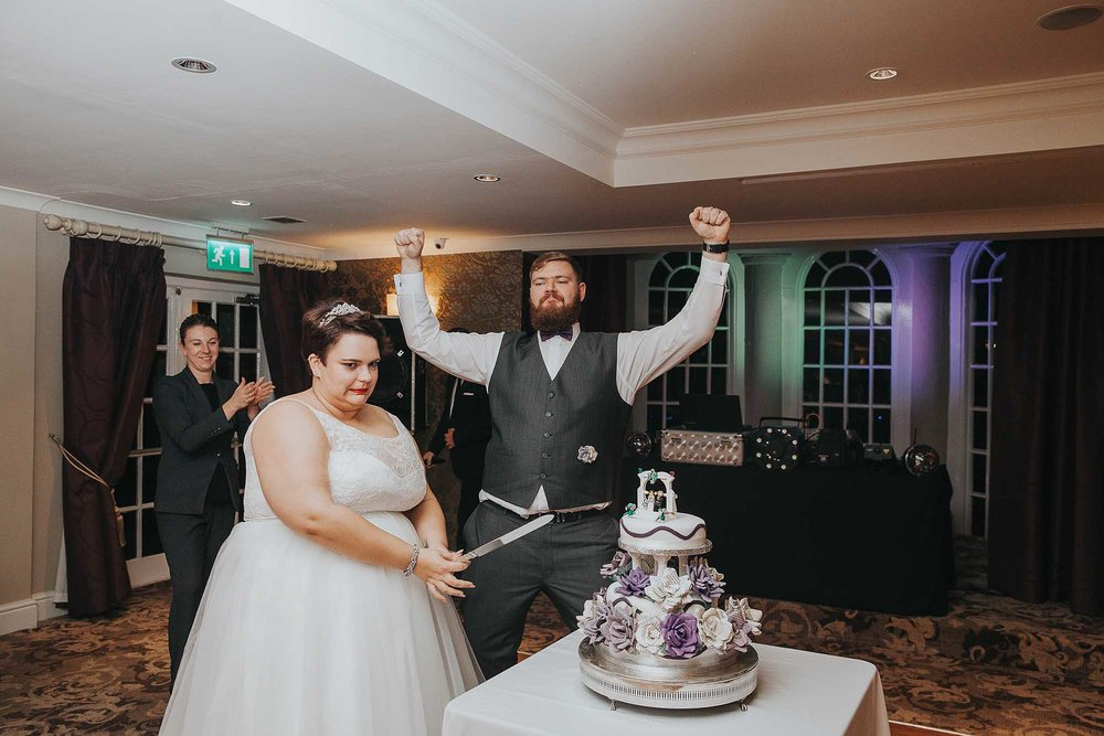 cake cut at The Bridge Hotel & Spa Wetherby