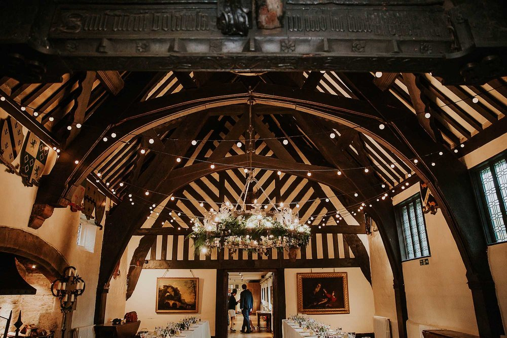 Samlesbury Hall winter decor