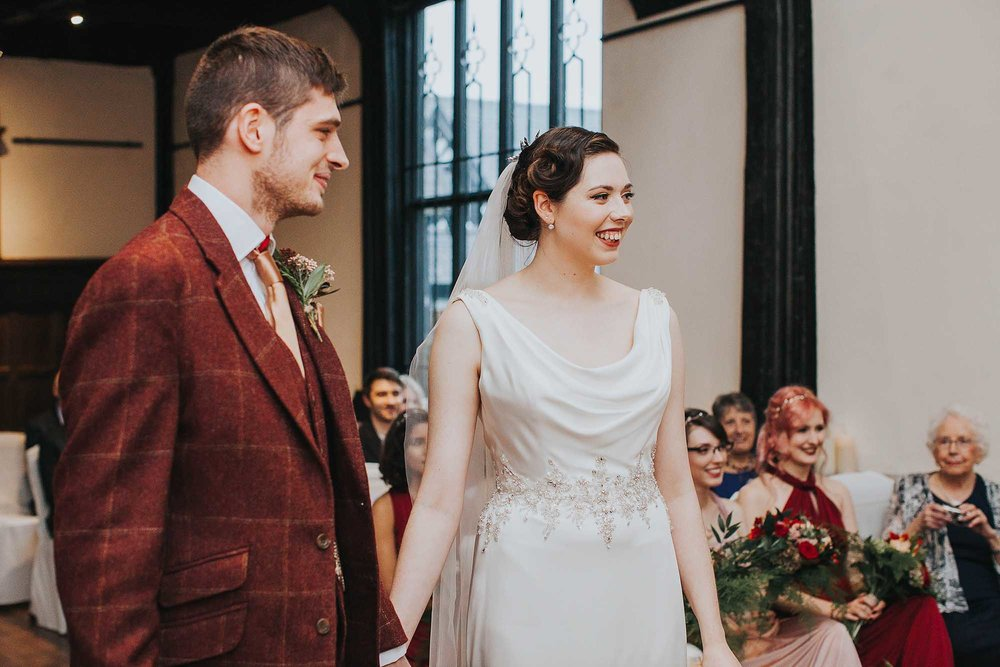 winter ceremony at Samlesbury Hall