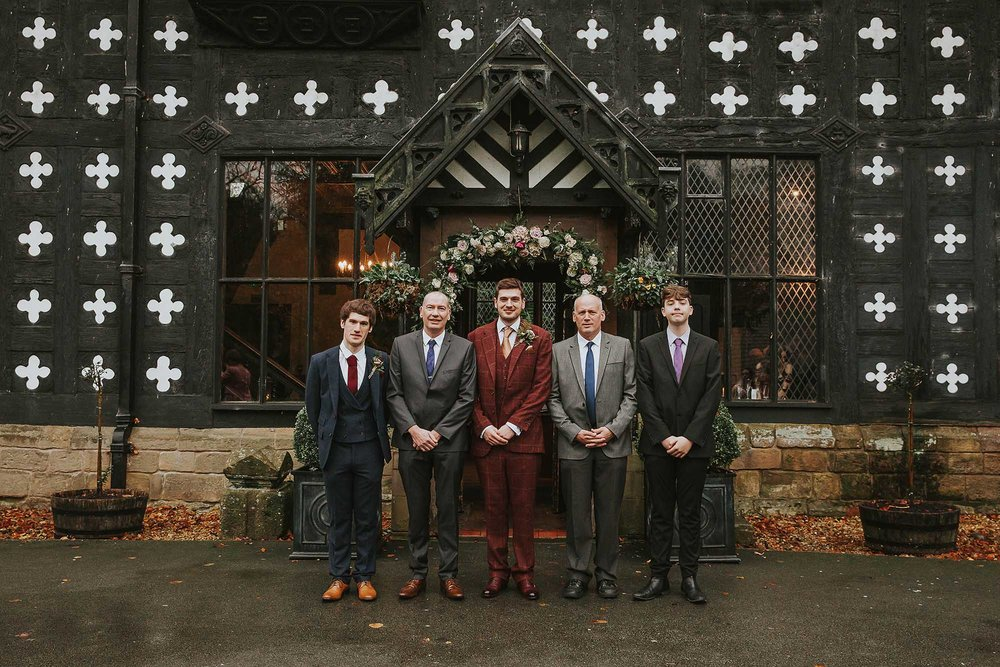 groomsmen at Samlesbury Hall