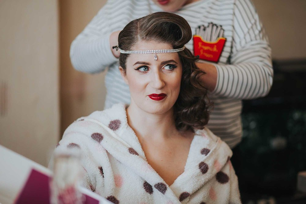 Vintage wedding hair Manchester