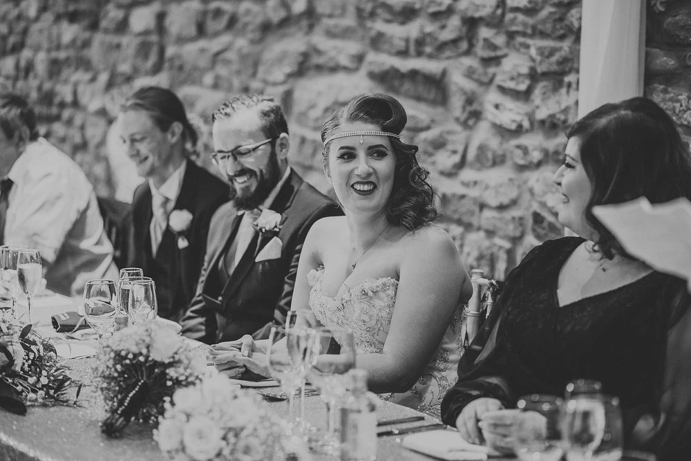 wedding speeches Browsholme Hall and Tithe Barn
