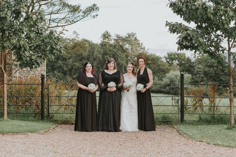 Eliza and Ethan bridesmaid dresses