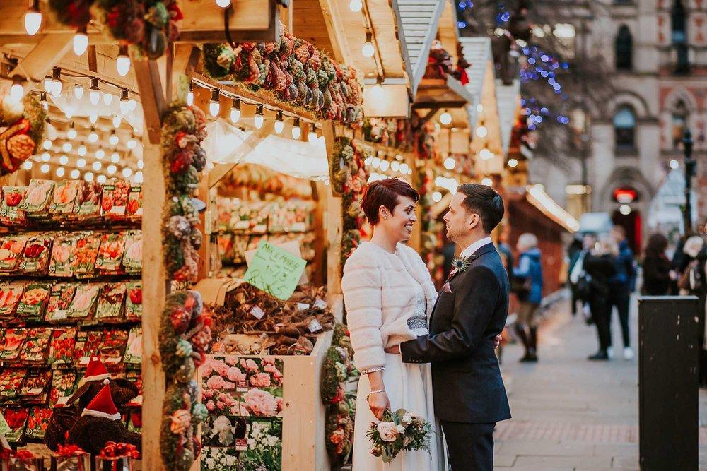 winter wedding elopement