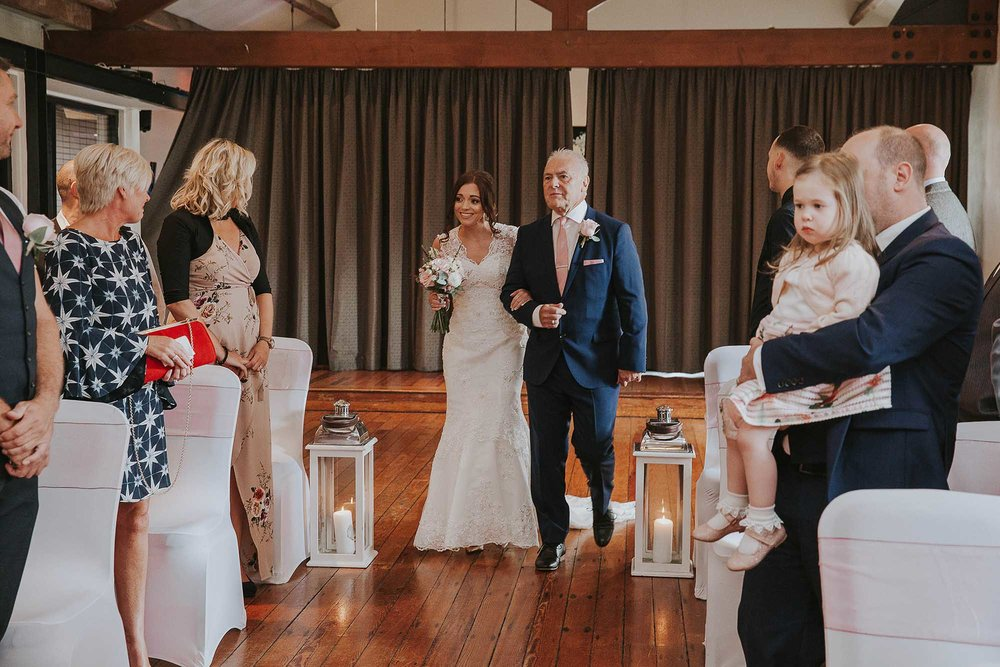 The Castlefield Rooms wedding ceremony