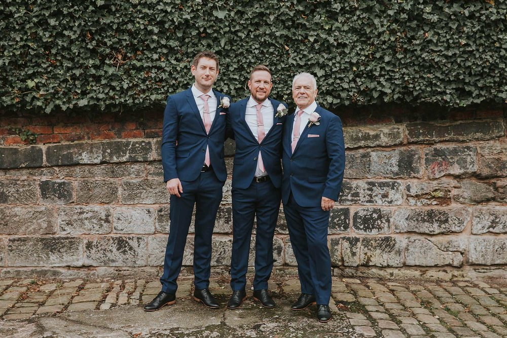groomsmen at The Castlefield Rooms